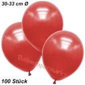 Premium Metallic Luftballons, Rot, 30-33 cm, 100 Stück
