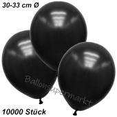 Premium Metallic Luftballons, Schwarz, 30-33 cm, 10000 Stück