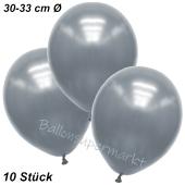Premium Metallic Luftballons, Silber, 30-33 cm, 10 Stück