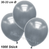 Premium Metallic Luftballons, Silber, 30-33 cm, 1000 Stück