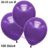 Premium Metallic Luftballons, Violett, 30-33 cm, 100 Stück