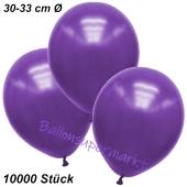 Premium Metallic Luftballons, Violett, 30-33 cm, 10000 Stück