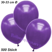 Premium Metallic Luftballons, Violett, 30-33 cm, 500 Stück