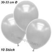 Premium Metallic Luftballons, Weiß, 30-33 cm, 10 Stück