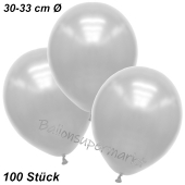 Premium Metallic Luftballons, Weiß, 30-33 cm, 100 Stück