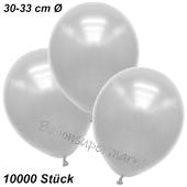 Premium Metallic Luftballons, Weiß, 30-33 cm, 10000 Stück