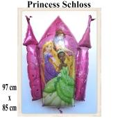 Princess Schloss, großer Luftballon aus Folie mit Helium