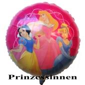 Prinzessinen Luftballon, Walt Disney, runder Folienballon mit Ballongas-Helium