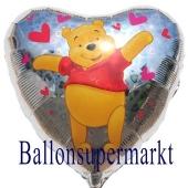 Puuh Bär Herzluftballon aus Folie (ungefüllt)