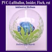 PVC-Folien-Luftballon, Fisch, lumineszierend, Insider Ballon, inklusive Helium-Ballongas