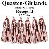 Quasten Girlande Rosegold, Festdekoration und Partydekoration