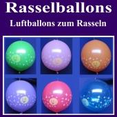 Rasselballons, Luftballons zum Rasseln