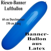 Riesen-Banner-Luftballon, Blau