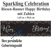 Sparkling Celebration, Happy Birthday Riesenbanner mit Zahlen