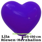 Riesen-Herzluftballon, 350 cm, Lila