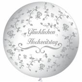 Riesenballon 75 cm , Glücklichen Hochzeitstag