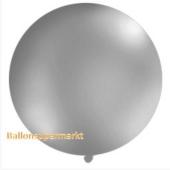 Großer Rund-Luftballon, Silber-Metallic, 100 cm