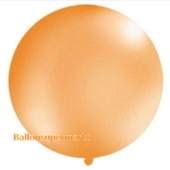 Großer Rund-Luftballon, Orange-Metallic, 100 cm