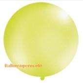 Großer Rund-Luftballon, Apfelgrün-Metallic, 100 cm