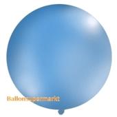 Großer Rund-Luftballon, Pastell-Blau, 100 cm