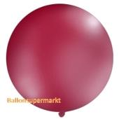 Großer Rund-Luftballon, Pastell-Burgund, 100 cm