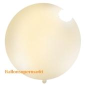 Großer Rund-Luftballon, Pastell-Creme, 100 cm