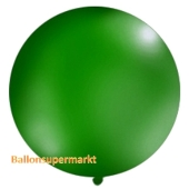 Großer Rund-Luftballon, Pastell-Dunkelgrün, 100 cm