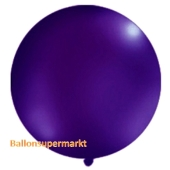 Großer Rund-Luftballon, Pastell-Dunkelviolett, 100 cm