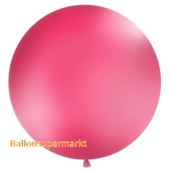 Großer Rund-Luftballon, Pastell-Fuchsia, 100 cm