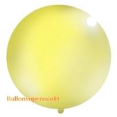 Großer Rund-Luftballon, Pastell-Gelb, 100 cm