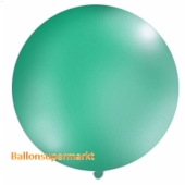 Großer Rund-Luftballon, Pastell-Grün, 100 cm