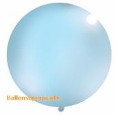Großer Rund-Luftballon, Pastell-Himmelblau, 100 cm