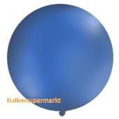 Großer Rund-Luftballon, Pastell-Marineblau, 100 cm