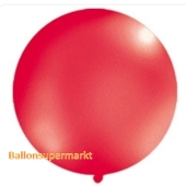 Großer Rund-Luftballon, Rot-Metallic, 100 cm