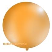 Großer Rund-Luftballon, Pastell-Orange, 100 cm