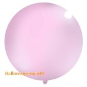 Großer Rund-Luftballon, Pastell-Hellrosa, 100 cm