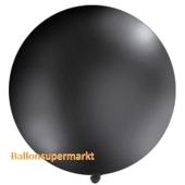 Großer Rund-Luftballon, Pastell-Schwarz, 100 cm