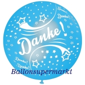 Riesen-Luftballon Danke, himmelblau, 75 cm, Danke auf dem riesigen Ballon