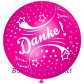 Riesen-Luftballon Danke, Pink, 75 cm, Danke auf dem riesigen Ballon