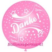 Riesen-Luftballon Danke, Rosa, 75 cm, Danke auf dem riesigen Ballon