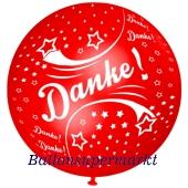 Riesen-Luftballon Danke, Rot, 75 cm, Danke auf dem riesigen Ballon