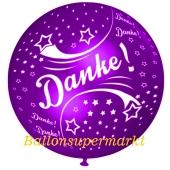Riesen-Luftballon Danke, violett, 75 cm, Danke auf dem riesigen Ballon