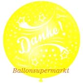 Riesen-Luftballon Danke, zitronengelb, 75 cm, Danke auf dem riesigen Ballon