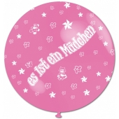 Es ist ein Mädchen, Riesenluftballon in Rosé