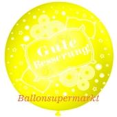 Riesen-Luftballon Gute Besserung, zitronengelb, 75 cm, Genesungswunsch auf dem riesigen Ballon