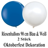Oktoberfest Dekoration Riesenballons balu und weiß, 2 Stück 90 cm