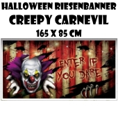 Riesenbanner Creepy Carnevil zu Halloween