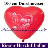 Riesenherzballon Ti amo