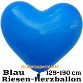 Riesen-Herzluftballon 150 cm, blau