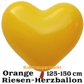 Riesen-Herzluftballon 150 cm, orange